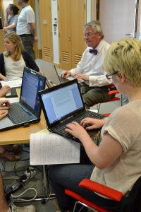 Wikipedia Edit-A-Thon at the British Library, January 2011. Via http://en.wikipedia.org/wiki/File:Bl_editing3.jpg